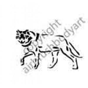 0288 wolf reusable stencil